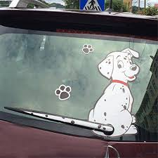 Fochutech Car Auto Body Sticker Spot Dog Rear Windshield Window Wiper