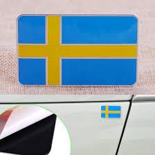 3d Sweden Swedish Flag Car Sticker Emblem Badge Decal Fender Trunk Decoration Archives Midweek Com