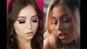 celebrity inspired makeup look ariana