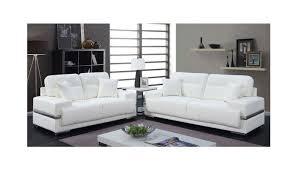 monaco modern white leather sofa