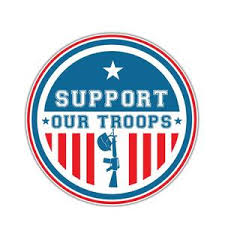 American Flag Support Our Troops Car Decal Aspire Gear