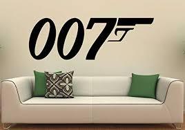 Amazon Com James Bond Wall Decal Wall Vinyl Sticker Secret Agent 007 Interior Home Art Wall Murals Bedroom Home Decor 3j01d Kitchen Dining