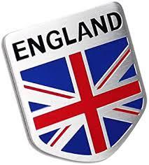 Amazon Com Car Alloy Aluminum England Britain Flag Shield Emblem Decal Badge Sticker Automotive