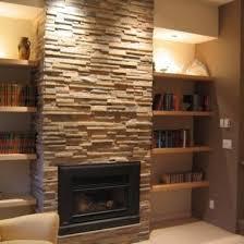 shelves beside fireplace design ideas