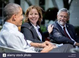 US President Barack Obama talks with Megan Smith, U.S. Chief Stock Photo -  Alamy
