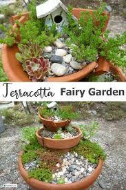 terracotta fairy garden don t throw