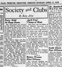 Brisbines attend party; April 11, 1943 - Newspapers.com