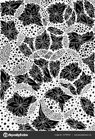Bloemen Bladeren In Cirkels Vectorillustratie Doodle Tekening