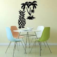 Palm Tropical Beach Wall Stickers Decor Kitchen Pineapple Fruit Vinyl Wall Decal Living Room Dining Room Decoration Art W510 Wall Stickers Aliexpress