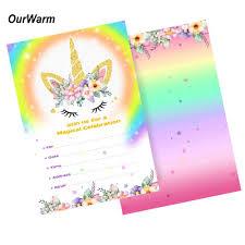 Ourwarm 10 Uds Tarjetas De Invitacion Para Fiestas De