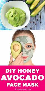 easy honey avocado face mask recipe