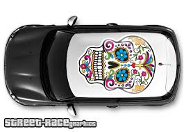 016 Sugar Skull Car Roof Wrap Day Of The Dead