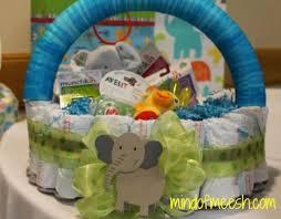 basket gifts diy diaper cake basket