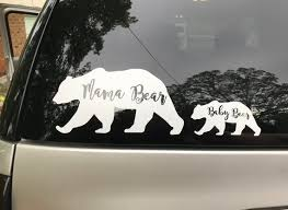 Mama Bear And Baby Bear Car Decal Mama Bear Car Decal Mom Etsy
