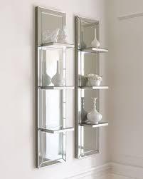 mirrored shelf wall panel mirror with