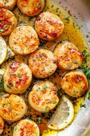 Lemon Garlic Butter Scallops - Cafe Delites