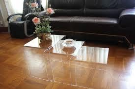 clear acrylic nesting table coffee