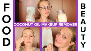 use coconut oil as makeup remover