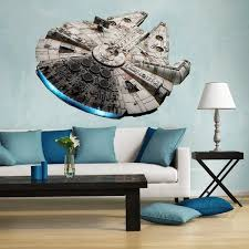 Shop Full Color Millennium Falcon Decal Star Wars Wall Sticker Overstock 31526514