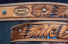 custom leather belt filagree fl