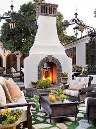 backyard fireplace design decor