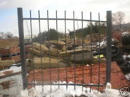 Heavy Duty Steel Fence With Posts And Gates 130 Ft Ebay