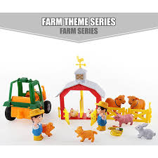 Farm Theme Series House Moving Fence Diy Assembly Scene Model Toys Shopee Philippines