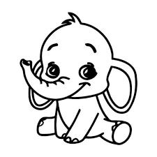 Baby Elephant Vinyl Sticker