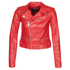guess khloe jacket red free delivery