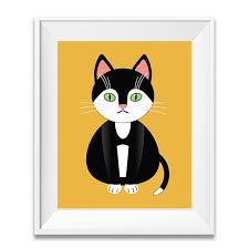 Cat Poster Nursery Decor Cat Art Kids Bedroom Ideas Gifts Shop