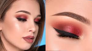 warm toned smokey eye makeup tutorial