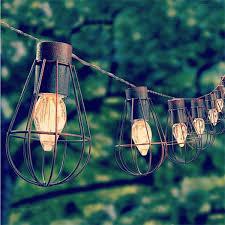 light led solar bulb vintage cage