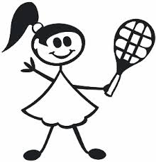 Tennis Teen Girl Decal 15 Family Figure Stick People Car Stickers Wildlife Decal