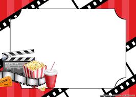 Free Printable Happy Movie Party Themed Birthday Invitation