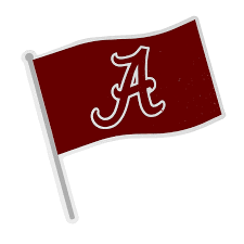 Alabama Car Flag With Script A Decal University Of Alabama Supply Store