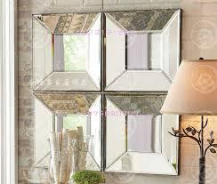 wall decorative mirror square beveled