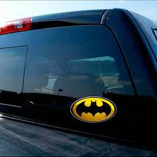 Batman Super Hero Dark Knight Yellow Oval Decal