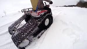 honda atc200 snow track setup
