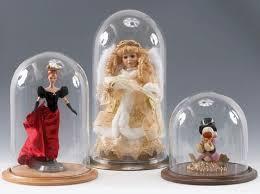 barbie doll size glass display dome