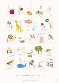 Source Mrprintables Com 4 Alphabet Print No Child S Baby S Room Is Complete Without An Alphabet Print Of Some K Printables Kids Alphabet Poster Free Wall Art