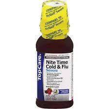 topcare night time cold flu severe