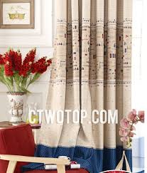 Multi Color Kids Bedroom Or Study Room Curtains Of Two Panels