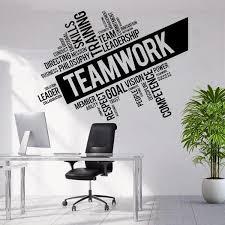 Inspirational Office Teamwork Words Wall Decal Sticker Home Decor Tiptophomedecor