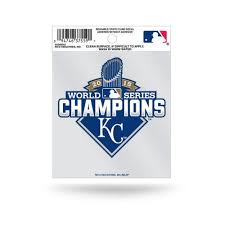 Kansas City Royals Official Mlb 3 5 Inch X 3 75 Inch 2015 World Series Champions Small Static Cling Window Car Decal By Rico Walmart Com Walmart Com