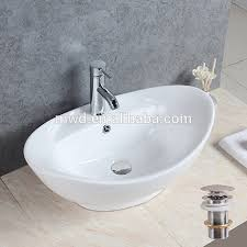 oval shape countertop art basin white