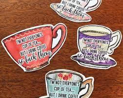 Tea Cup Decals Etsy