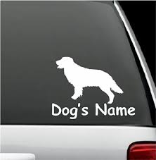 Amazon Com Personalized Golden Retriever Dog Name Decal Window Sticker Decal For Car Window 5 X 6 Home Kitchen