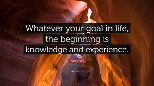 """henry ford quote """"whatever your goal in life the beginning is"""