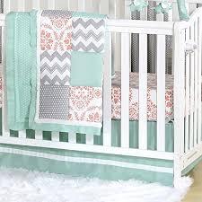 white tailored crib skirt with c