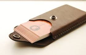 handmade leather business card holder